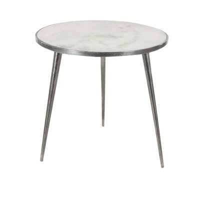 Marble End Table Table Base Color: Silver