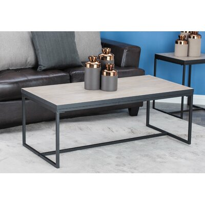 Jamarcus Contemporary Rectangular Coffee Table Table Top Color: Brown