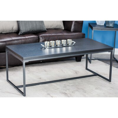 Jamarcus Contemporary Rectangular Coffee Table Table Top Color: Black