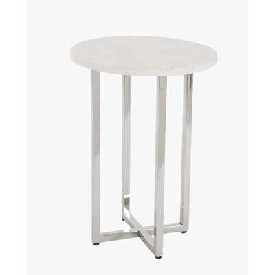 Choate Polystone Round End Table Table Top Color: White