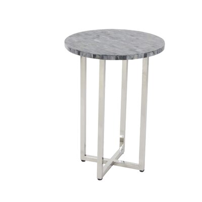 Choate Polystone Round End Table Table Top Color: Gray