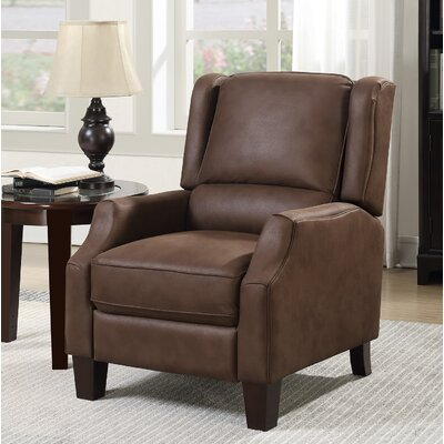 Hedgepeth Manual Recliner Upholstery: Dark Tobacco