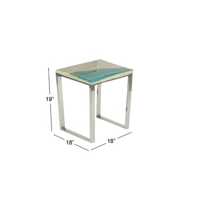 Markey End Table Color: Blue