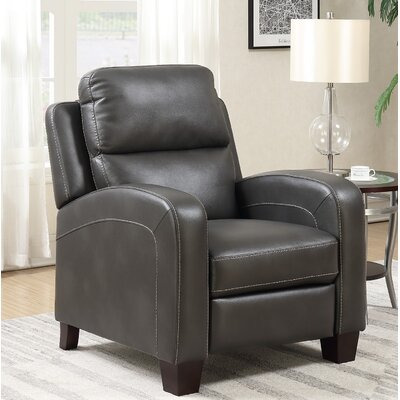 Hedges Manual Recliner Upholstery: Gray