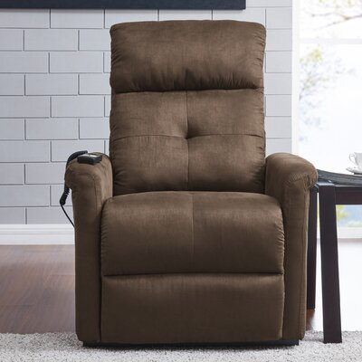Koepke Power Lift Assist Recliner Upholstery: Brown