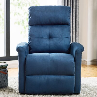 Koepke Power Lift Assist Recliner Upholstery: Blue