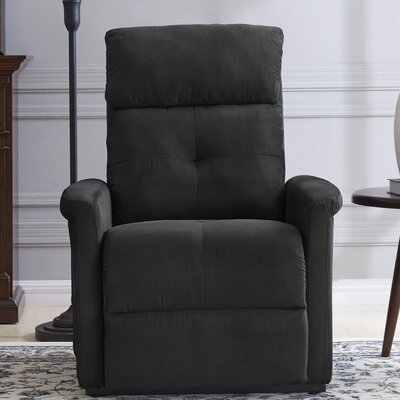 Koepke Power Lift Assist Recliner Upholstery: Black
