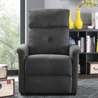 Koepke Power Lift Assist Recliner Upholstery: Gray