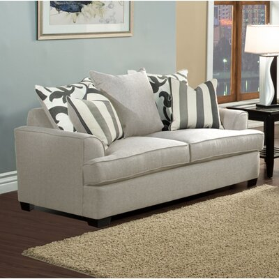 Heenan Loveseat Upholstery: Beige