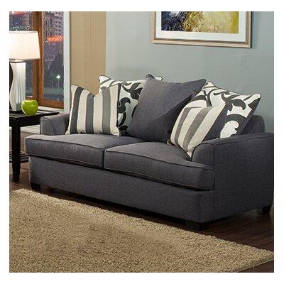 Heenan Loveseat Upholstery: Gray