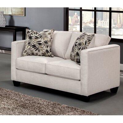Miskell Loveseat Upholstery: Ivory