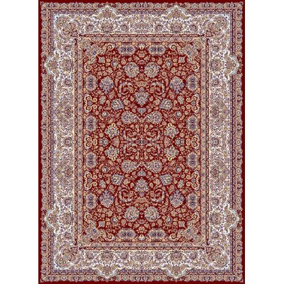 Macaluso Persian Wool Red Area Rug Rug Size: Rectangle 711 x 910