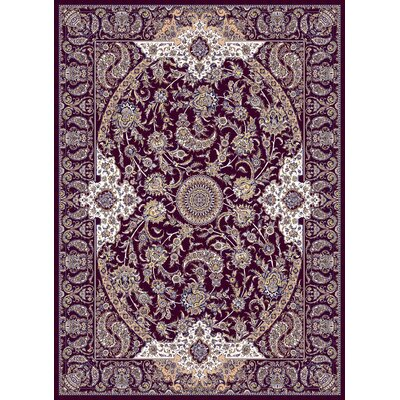 Macaulay Persian Wool Burgundy Area Rug Rug Size: Rectangle 10 x 13