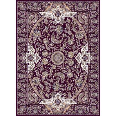 Macaulay Persian Wool Burgundy Area Rug Rug Size: Rectangle 53 x 72