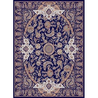 Macdougal Persian Wool Navy Area Rug Rug Size: Rectangle 711 x 910