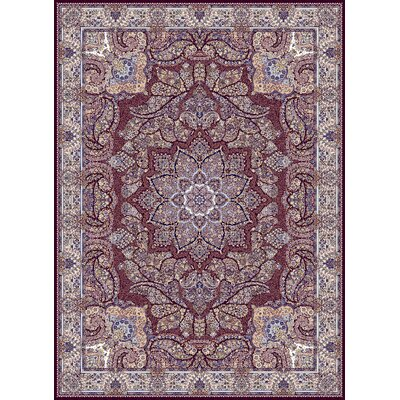 Cromartie Persian Wool Burgundy Area Rug Rug Size: Rectangle 5'3