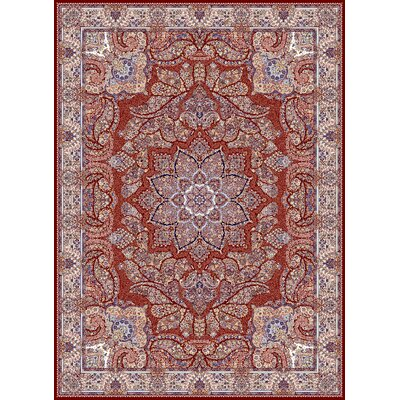 Cronin Persian Wool Red Area Rug Rug Size: Rectangle 5'3