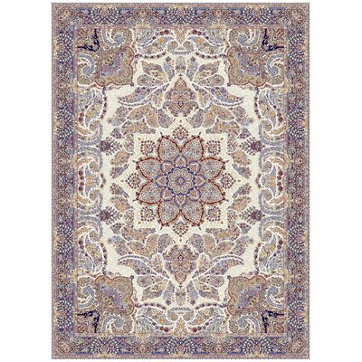 Cronan Persian Wool Ivory Area Rug Rug Size: Rectangle 7'11