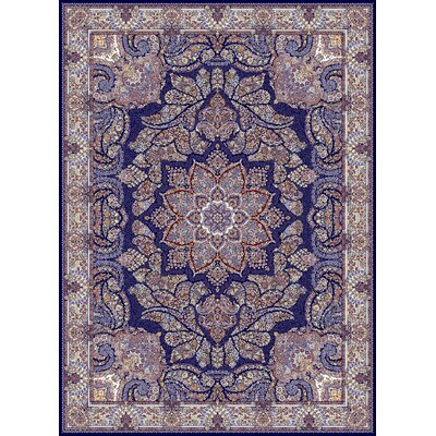 Crompton Persian Wool Navy Area Rug Rug Size: Rectangle 711 x 910