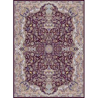 Macey Persian Wool Burgundy Area Rug Rug Size: Rectangle 5'3