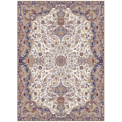 Macfarlane Persian Wool Ivory Area Rug Rug Size: Rectangle 5'3