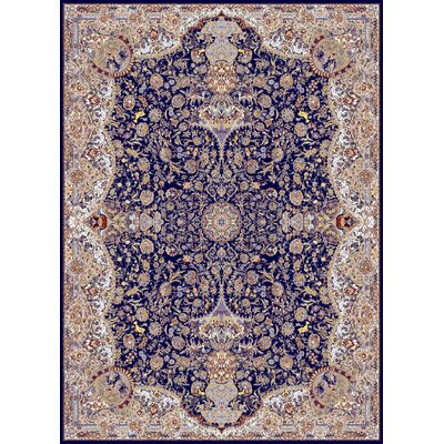 Mach Persian Wool Navy Area Rug Rug Size: Rectangle 53 x 72