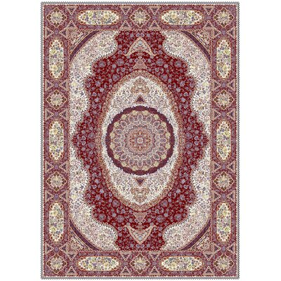 Macintyre Persian Wool Red Area Rug Rug Size: Rectangle 53 x 72