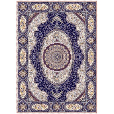 Maciel Persian Wool Ivory Area Rug Rug Size: Rectangle 711 x 910