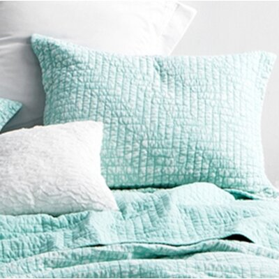Flippen Filter Stone Washed Cotton Sham Size: Standard/Twin, Color: Mint