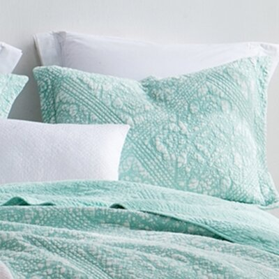 Florez Gradient Stone Washed Cotton Sham Size: Standard/Twin, Color: Mint