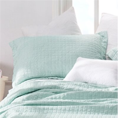 Flory Wrinkle Stone Washed Sham Size: Standard/Twin, Color: Mint