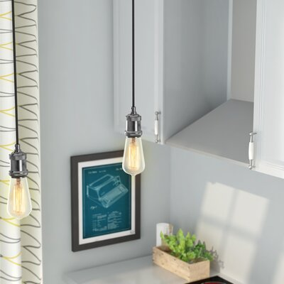 Coyle 1-Light LED Aluminum Mini Pendant Base Finish: Satin Chrome