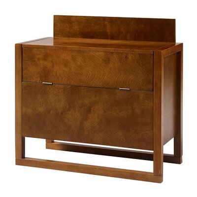 Raduno Bar with Wine Storage Color: Walnut