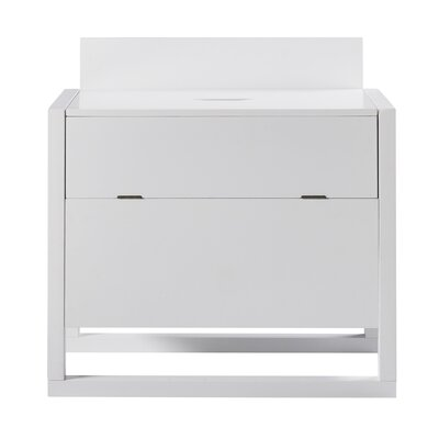 Raduno Bar with Wine Storage Color: White