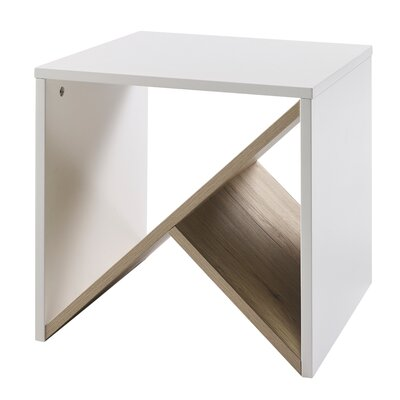 Bloccare End Table Color: White/Natural