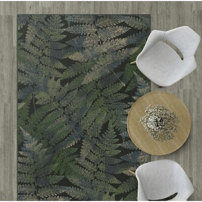 Wakefield Ferns Leaf Green Area Rug Rug Size: Rectangle 76 x 10