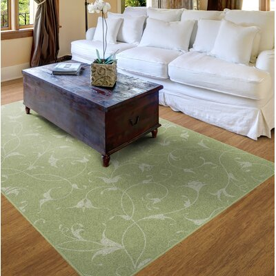 Dessert Floral Green Area Rug Rug Size: Rectangle 34 x 5