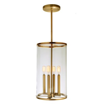 Gilford 4-Light Foyer Pendant Finish: Satin Brass