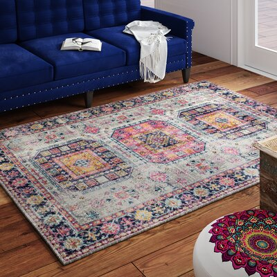 Ashburn Gray Area Rug Rug Size: 53 x 76
