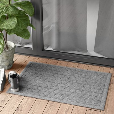 Finnerty Honeycomb Doormat Color: Medium Gray