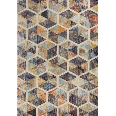 Forbis Prisms Ivory Area Rug Rug Size: Rectangle 53 x 77