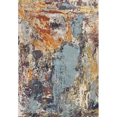 Forbis Blue/Orange Area Rug Rug Size: Rectangle 910 x 132