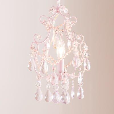 Alyson 1-Light Foyer Pendant Finish: Pink