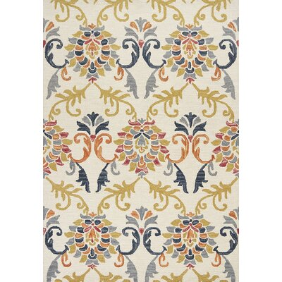 Crume Hand-Tufted Wool Ivory Area Rug Rug Size: Rectangle 76 x 96