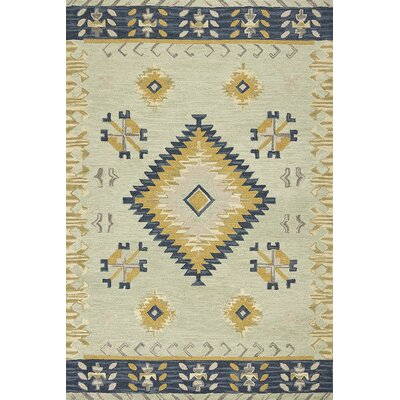 Crume Hand-Tufted Wool Mint Area Rug Rug Size: Rectangle 33 x 53