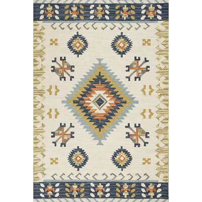 Crume Hand-Tufted Wool Ivory Area Rug Rug Size: Rectangle 86 x 116
