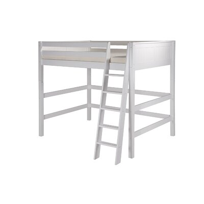 Isabelle Twin Loft Bed Color: White