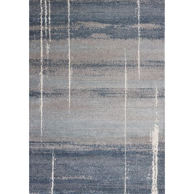 Criswell Blue Area Rug Rug Size: Rectangle 53 x 77