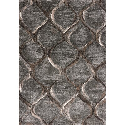 McBain Groove Charcoal Area Rug Rug Size: Rectangle 33 x 53