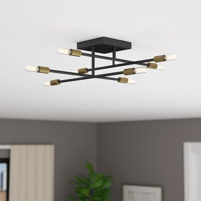 Whaleback 8-Light Semi Flush Mount Finish: Bronze